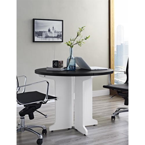 Dorel Pursuit White/Gray Round Table
