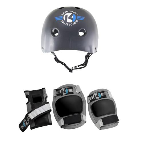 Kryptonics Starter 4-in-1 Pad Set With Helmet - Small/Medium
