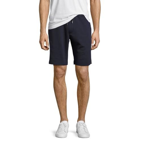 MONCLER Tricolor-Trim Sweat Shorts, Navy