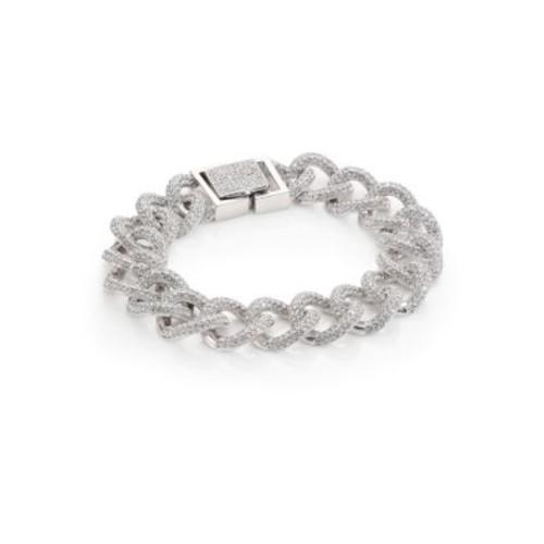 Pav Curb Chain Bracelet