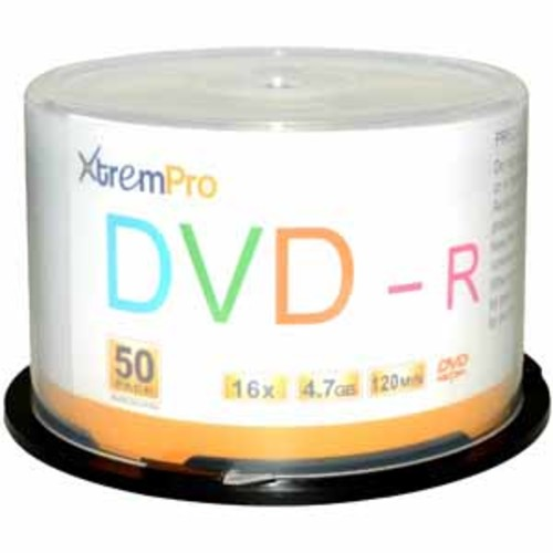 XtremPro DVD-R 4.7GB 16X 120min - 50 Pack