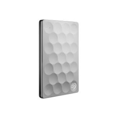 Seagate Backup Plus Ultra Slim 1TB Hard Drive - USB 3.0 Interface, 5Gbps, Automatic Backup, NTFS Formatted, Cloud Backup Portable, External, Platinum - STEH1000100