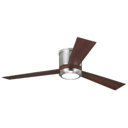 Clarity Ceiling Fan [Fan Body and Blade Finish : Brushed Steel with Teak]