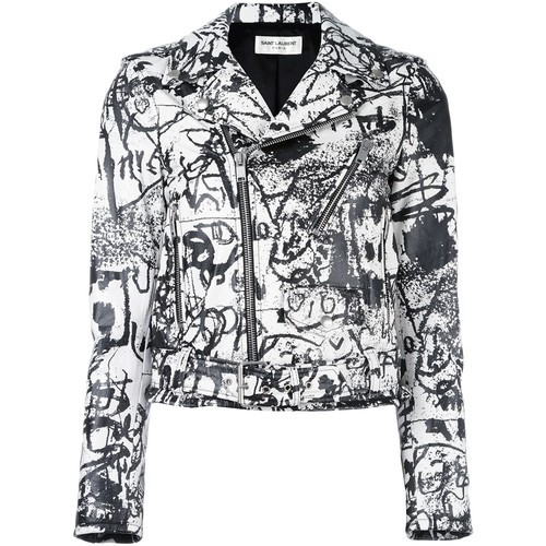 SAINT LAURENT Special Edition Leather Motorcycle Jacket