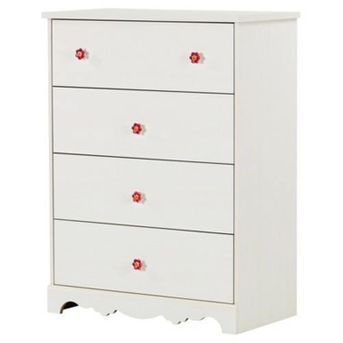 South Shore Furniture Lily Rose 4 Drawer Chest - White Wash