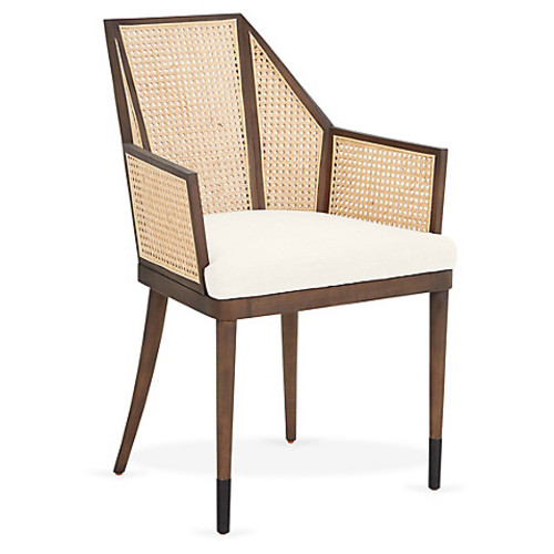 Cane Armchair, Oyster/Natural