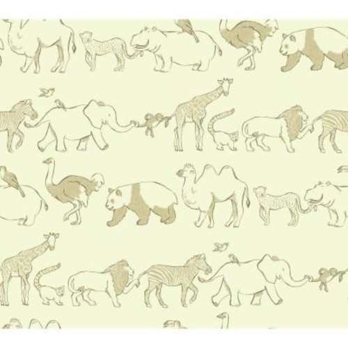 York Wallcoverings Waverly Kids Congo Line Wallpaper