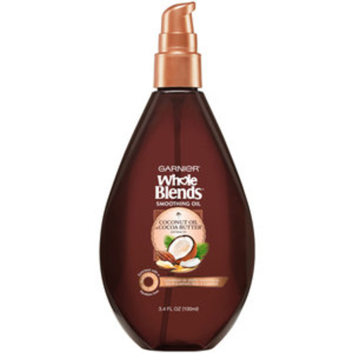 Garnier Whole Blends Coconut Oil & Cocoa Butter Smoothing Oil, 3.4 OZ