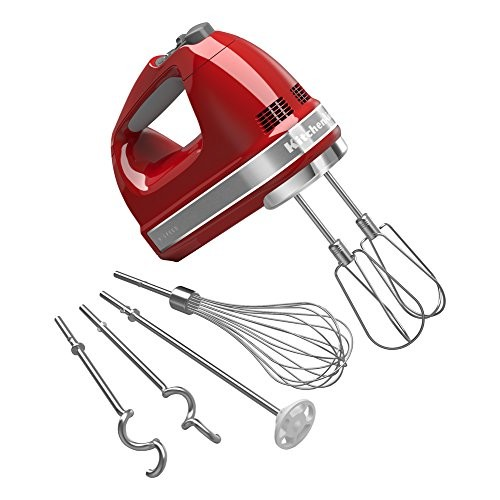 KitchenAid KHM926ER Empire Red 9-Speed Hand Mixer [Empire Red]