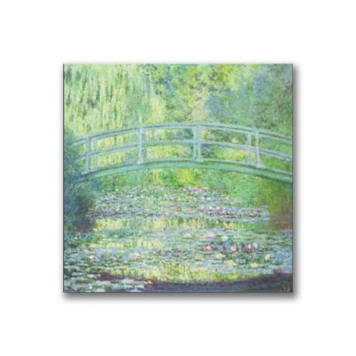 Trademark Fine Art Claude Monet 'Waterlily Pond-The Bridge II' Canvas Art