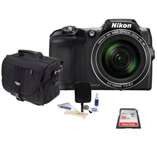Nikon Coolpix B500 Digital Point & Shoot Camera with Free Accessories, Black 26506 A