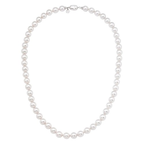 Simulated Pearl Collar Strand Necklace, 18