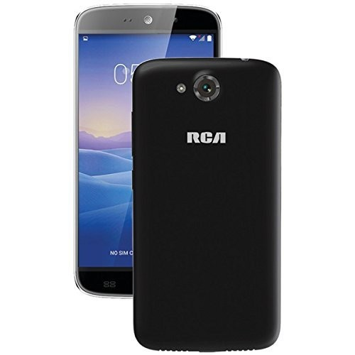 RCA 5.5-Inch Quad Core, Quad Band Unlocked Android World Smartphone with Dual Sim Card, Dual Camera, High Res IPS Screen, Black [5.5-Inch (Black)]