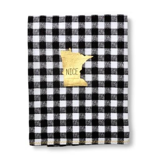 MN Kitchen Towel Black/White 9.25