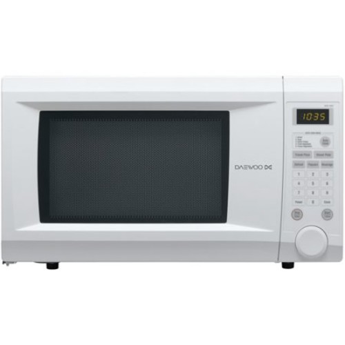 Daewoo - Touch Control 1.1 Cu. Ft. Mid-Size Microwave - White