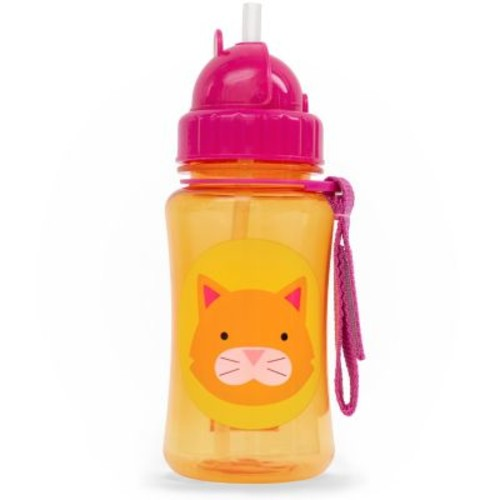 Skip Hop Zoo 12 Ounce Straw Bottle - Chase Cat