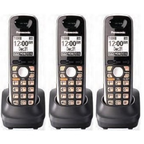 Panasonic KX-TGA651B Additional Cordless Handset For DECT 6.0 KX-TG6500 Series(3 Pack)