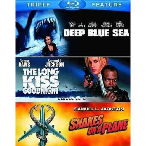 Deep Blue Sea/The Long Kiss Goodnight/Snakes on a Plane [3 Discs] [Blu-ray]