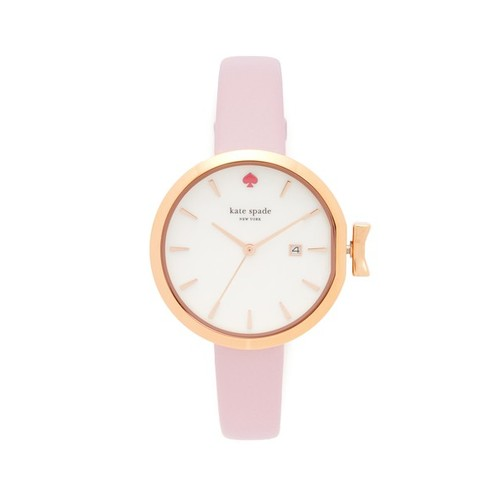 KATE SPADE NEW YORK Park Row Leather Watch