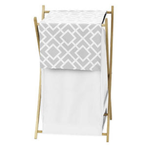 Sweet Jojo Designs Grey and White Diamond Collection Laundry Hamper