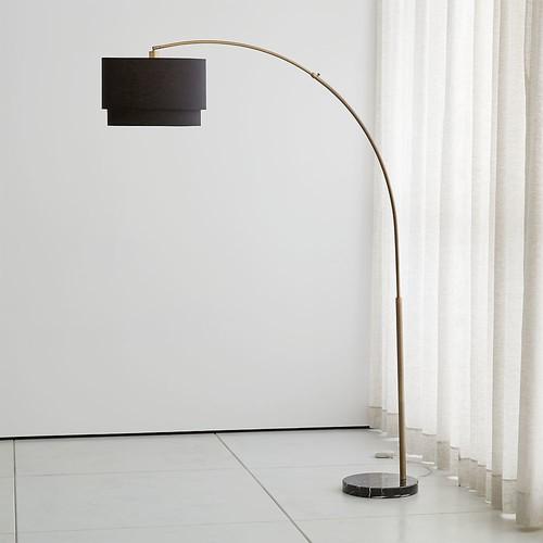 Meryl Arc Brass Floor Lamp