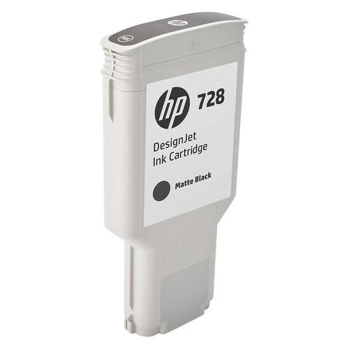 HP Ink Cartridge, No. 728, Matte Black