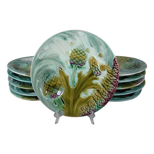 Luneville Artichoke & Asparagus Plate
