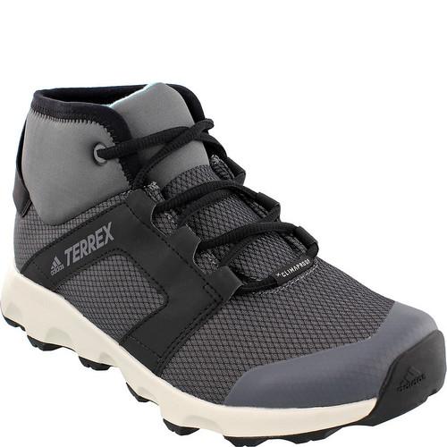 ADIDAS Womens Terrex Voyager CW CP Mid-Cut Hiking Shoes, Grey Four/Black/Chalk White