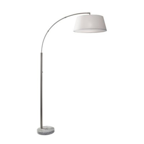 Adesso Thompson Arc Floor Lamp in Brushed Steel