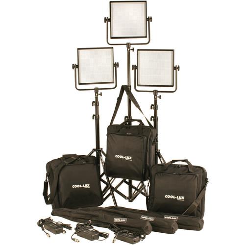 CL3-3000DSV Daylight PRO Studio LED Spot 3-CL1000DSV Kit with V-Mount Battery Plates