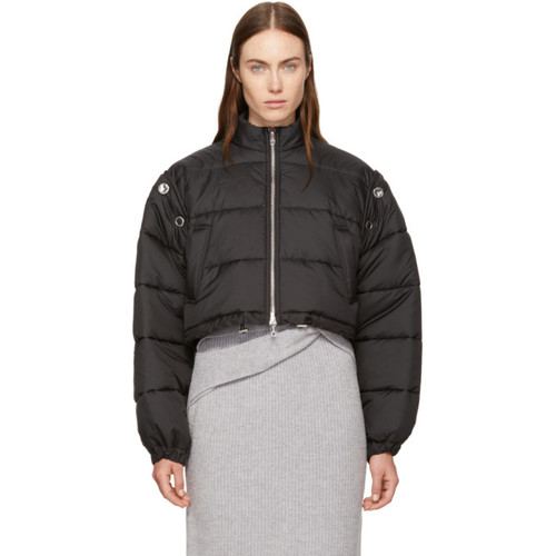 3.1 PHILLIP LIM Black Cropped Puffer Ski Coat