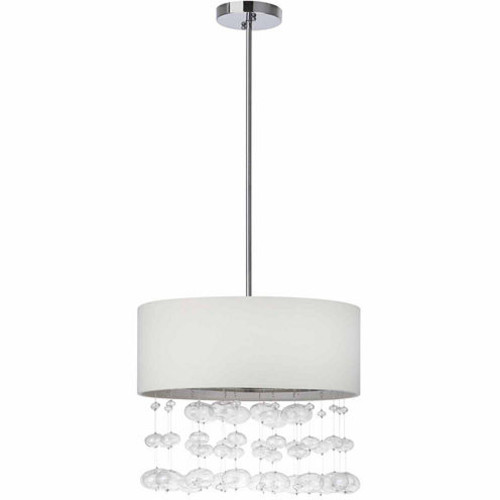 Safavieh Debutante 3 Light Chrome Beaded Adjustable Pendant