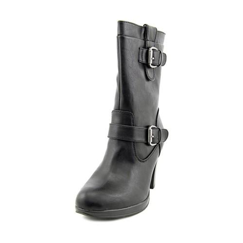 Rialto Padova Women Round Toe Synthetic Black Mid Calf Boot
