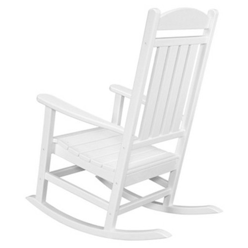 Outdoor All-Weather Pineapple Cay Porch Rocker - White - Hanover