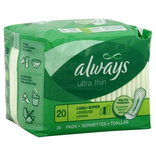 Always Pads, Ultra Thin, Long Super, Heavy, 20 pads