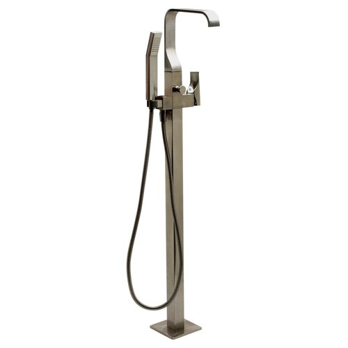 ALFI BRAND Single-Handle Claw Foot Tub Faucet in Brushed Nickel with Sleek Modern Design