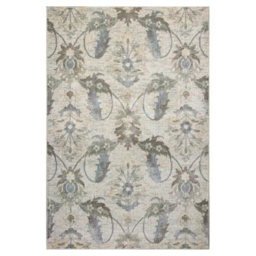 Kas Rugs Vintage Traditions Ivory 3 ft. 3 in. x 4 ft. 11 in. Area Rug