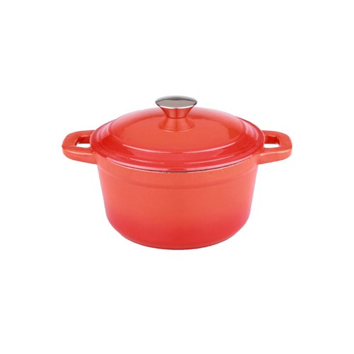 BergHOFF Neo 3 Qt. Round Orange Cast Iron Dutch Oven with Lid