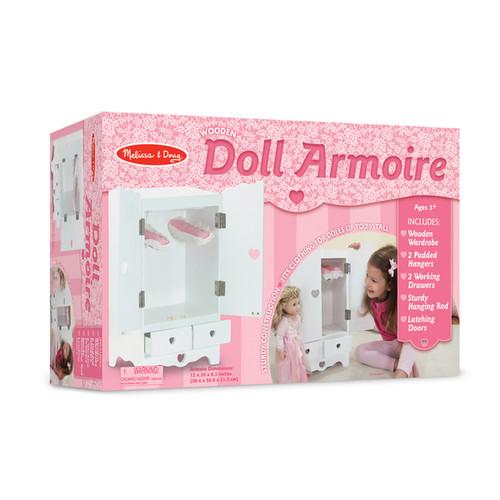 Melissa & Doug Wooden Doll Armoire