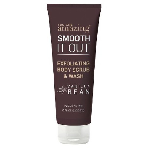 you are AMAZING vanilla bean exfoliating body scrub & wash 8 oz