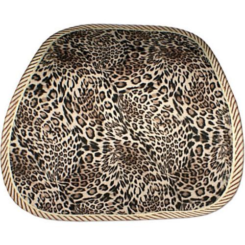 QVS Premium Ergonomic Lumbar Back Support with Leopard Skin