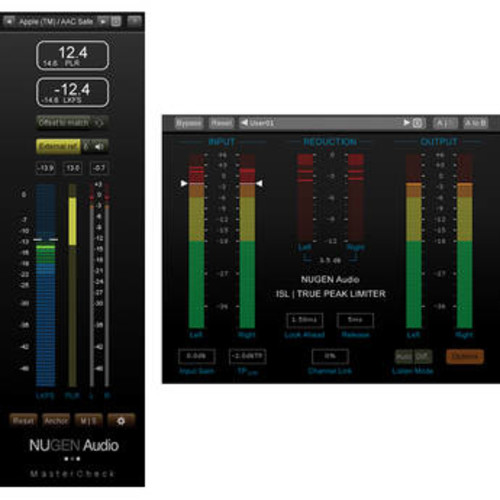 MasterCheck & ISL - Loudness & Dynamics Tools with Peak Limiter Bundle (Download)