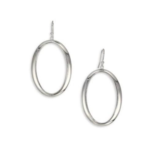 Glamazon Sterling Silver Oval Drop Earrings