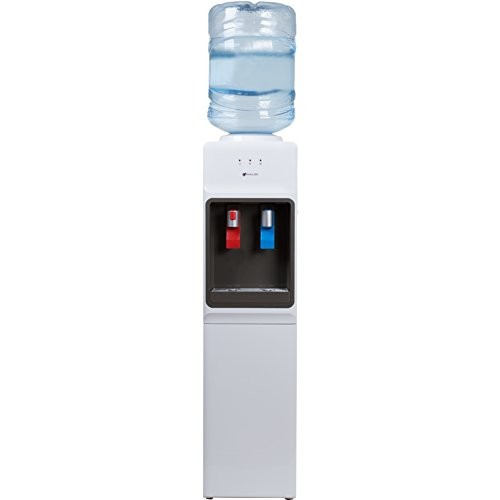 Avalon Top Loading Water Cooler Dispenser - Hot & Cold Water, Child Safety Lock, Innovative Slim Design, Holds 3 or 5 Gallon Bottles - UL/Energy Star Approved [White]
