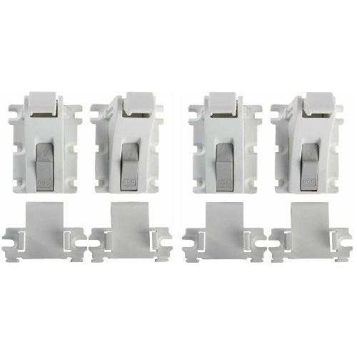 KidCo Adhesive Mount Magnet Lock - White - 4 ct