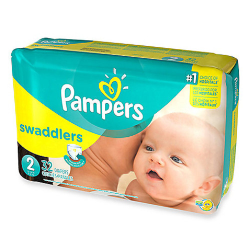 Pampers Swaddlers 32-Count Size 2 Jumbo Pack Diapers