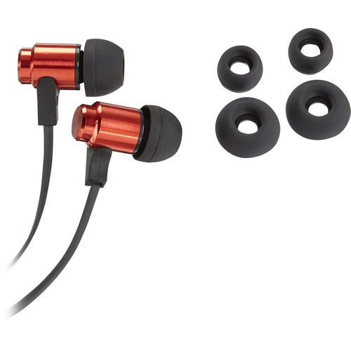 Insignia - Stereo Earbud Headphones - Red