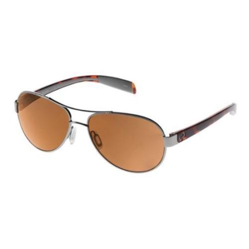 Native Eyewear 2015 Haskill Polarized Lens Sunglasses (Chrome/Maple Tort/Light Gray Frame - Brown Lens)