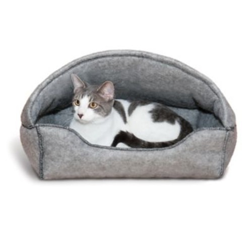 Amazin Kitty Hooded Cat Lounger in Grey