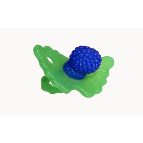 RaZ-Baby RaZ-Berry Silicone Teether / Multi-texture Design / Hands Free Design / Blue [Blue]